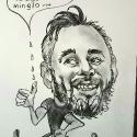 karykatura na prezent ołówkiem